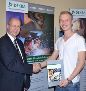 Bernd Stirnberg, angehender Abiturient Daniel Kruska