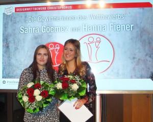 Die beiden Gewinnerinnen des Design-Wettbewerbs Sahra Göcmez und Hanna Fiener