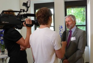 Schülerteam interviewt Schulleiter Herwartz HP